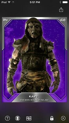 Topps Star Wars Digital Card Trader Purple Klaatu Base 3 Preview