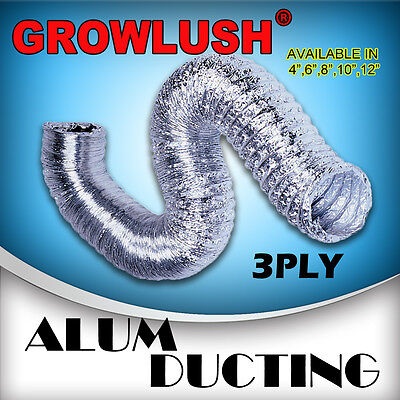 4 inch Silver Aluminium Ducting hydroponics Grow Light Ventilation in grow tent