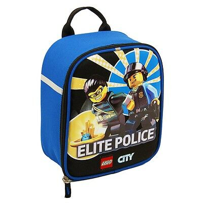 LEGO CITY ELITE POLICE Lead & PVC-Safe Vertical Insulated Lunch Tote Box Bag NWT