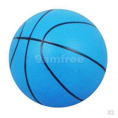 2x Mini Bouncy Basketball Indoor/Outdoor Sports Ball Kids Toy Gift-Blue