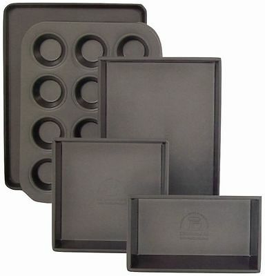 Kitchenaid 5-teiliges Backformen-Set inkl.Muffinblech, Kastenform,2x Kuchenform