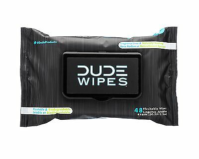 DUDE Wipes Flushable Moist Dispenser Pack Fragrance Free and Naturally Soothi...