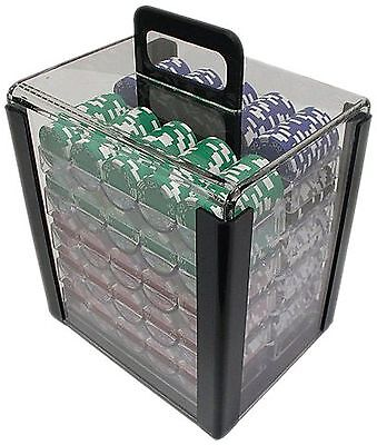 Trademark Poker 1000-Chip Capacity Carrier Chip Clear