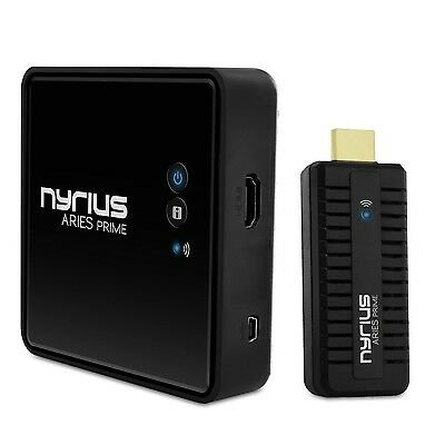 Nyrius ARIES Prime Wireless Video HDMI Transmitter & Receiver for Streaming H...