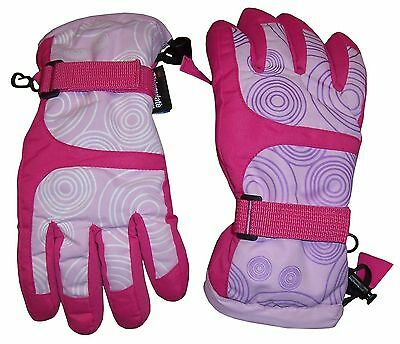 N'Ice Caps Girls Magical Colour Changing Thinsulate and Waterproof Ski Gloves