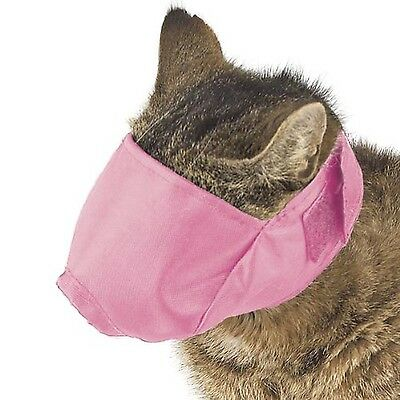 Guardian Gear Nylon Fashion Muzzle for Cat Over 12-Pound Large Pink