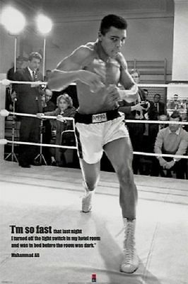 Muhammad Ali POSTER I'm So Fast BOXING Motivational NEW Licensed Print