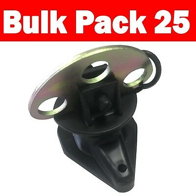 25x Gate Handle Latch Anchor Plate Electric Fence Insulator (INS075)