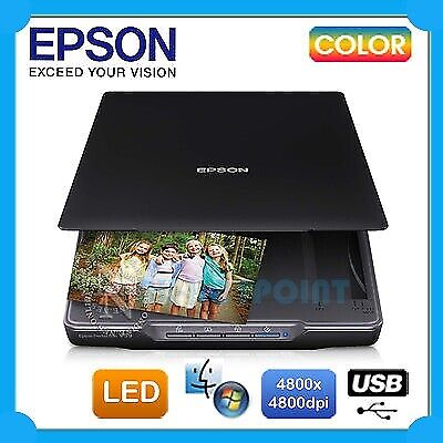 Epson Perfection V19 USB Flatbed Colour Photo A4 LED Scanner 4800DPI /w Warranty