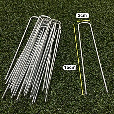"U-shaped Garden Securing Pegs for securing artificial grass weed fabric 6"" #7H3"
