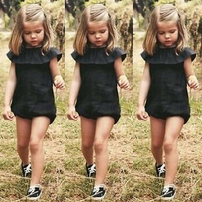 Fashion Baby Girls Kids Clothes Romper Playsuit Jumpsuit Summer Sunsuit Outfit