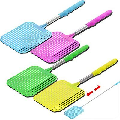 Telescopic Extendable Fly Swatter Insect Bug Wasp Mosquito Killer Indoor Outdoor