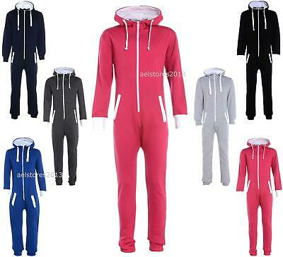 Kids Plain Hooded Onesie / Childrens Jumpsuit (Girls Boys onesies onesy onsie)