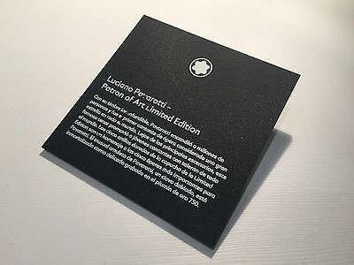 Used - MONTBLANC Display Plaque Exposant - Luciano Pavarotti - Español