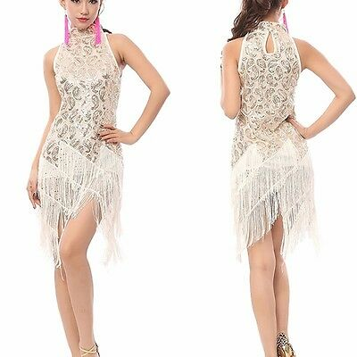 1920s Flapper Dress Clubwear Party Gatsby Sequin Tassel Plus Size