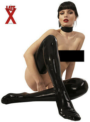 Black Latex Stockings. 100% Rubber Stockings With Feet High Quality Strong Latex
