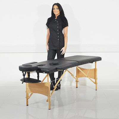 Luxury Lightweight Adjustable Folding Padded Massage Table Therapy Couch Kf600B