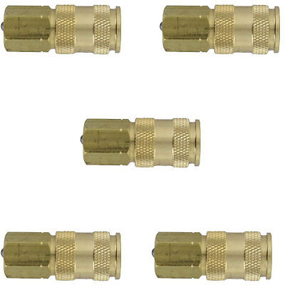 Milton 764 V-Style Hi-Flo Coupler Body - Brass, 1/4in. FNPT, 5 Pack