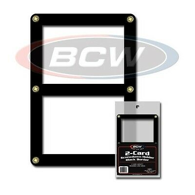 2 Card Screwdown Holder with Black Border with stand x 2 pack