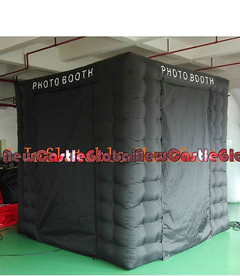 custom made 8 feet oxford cloth inflatable photo booth cube tent CE/UL blower