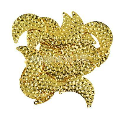 20Pcs Bumpy Stamped Half Moon Connnector DIY Embellishment Party Decor Gold