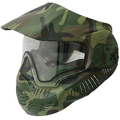 Valken Annex MI-7 Paintball & Airsoft Goggle Mask Woodland Camo New Sly