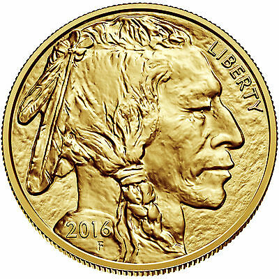 Lot of 5 - 2016 1oz American Gold Buffalo .9999 Fine BU