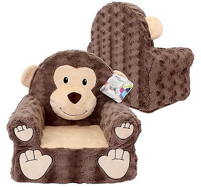 Sweet Seats Monkey Plush Childrens Chair, Brown, One Size