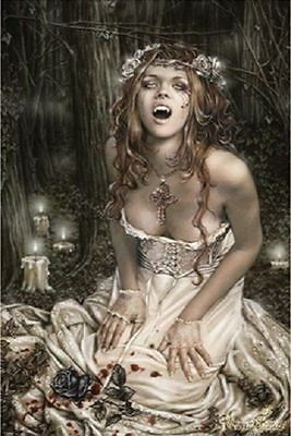 VICTORIA FRANCES PINUP POSTER (61x91cm) WITCHES VAMPIRES PICTURE PRINT NEW ART