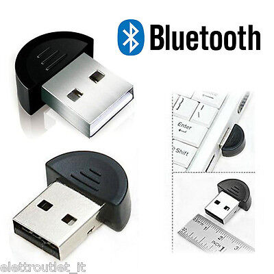 Bluetooth USB Penna Wireless Pc Notebook Chiavetta Adattatore Windows 7 8 8.1 XP