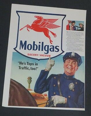 Original 1941 Print Ad Mobilgas Mobiloil Bears Hibernation Dealer 2 Page Art Merchandise & Memorabilia Advertising-print