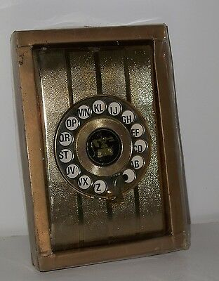 Vintage Rotary Telephone Address Book Dial Pop-Up Gold – Collectible - New