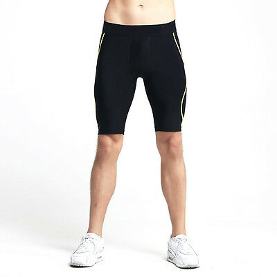 Men's Workout Compression Shorts Sports Pants Base Layers Tights Fitness Running