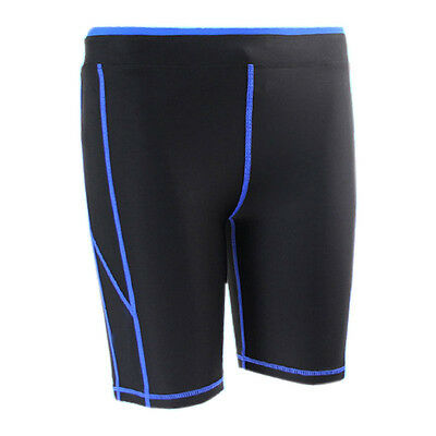 Men's Workout Compression Tights Shorts Under Base Layer Sports Gym Half Pants