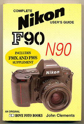"John Clements libro ""Nikon F90/N90 "" 1993 in inglese Hove Foto Books D818"