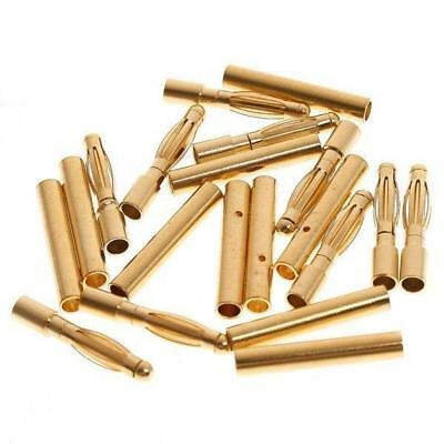 50pairs 2mm Gold  Bullet Connector Battery ESC Motor Plug Male&Female
