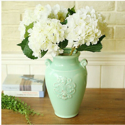 Artificial Hydrangea Fake Peony Silk Plant Flower Home Wedding Bouquet White