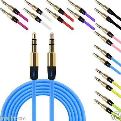 1M 3.5mm Male Auxiliary Cable Audio Cable Male To Male Stereo Flat Aux Kable