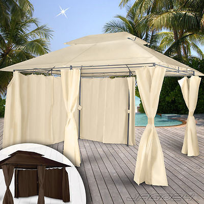 Pop Up Garden Gazebo Pavilion Canopy Marquee Party Reception Tent Outdoor 4x3m