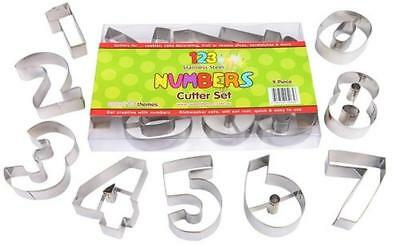 NEW Large Numbers 7cm Cookie Cutter Set