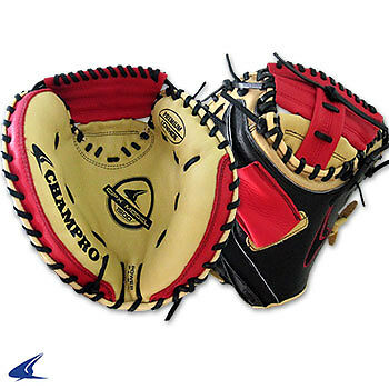 CPX Series Baseball Catcher's Mitts- 32'', Red/ Yellow