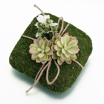 Moss Wedding Ceremony Ring Holder