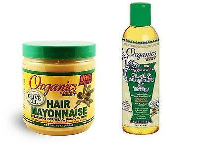 Organics African's Best Moisturising Hydrating Argan Hair Oil Care AF Mayonnaise