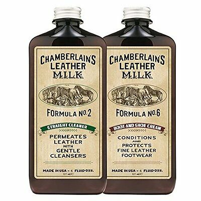 Chamberlain's Leather Milk Boot and Shoe Cleaner and Conditioner Kit - 6 Oz