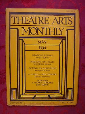 THEATRE ARTS May 1934 STARK YOUNG FRANCES FROST +++