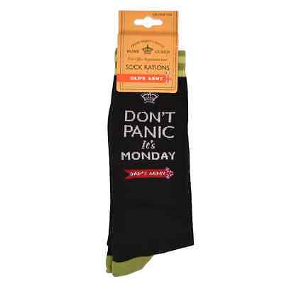 Dad's Army Don't Panic It's Monday Socks One Size Christmas Birthday Gift