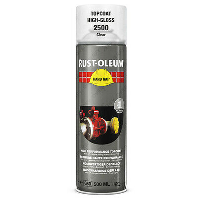 x1 Very High Coverage Rust-Oleum Transparent Clear Lacquer Spray Paint Hard Hat