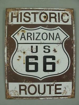 Blechschild, Reklameschild Historic Route, Arizona US 66, Wandschild 33x25 cm