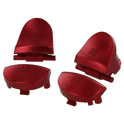 ZedLabz aluminum alloy metal L2 R2 trigger L1 R1 buttons for Sony PS4 - red