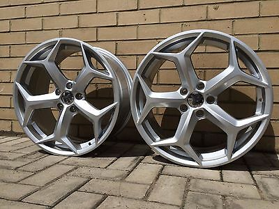 """18"""" Focus Rs Style Alloy Wheels Ford Focus St Mk2 5X108 Hypersilver"""